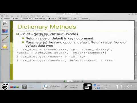 Python for Engineers: Dictionaries 1 (Screencast)