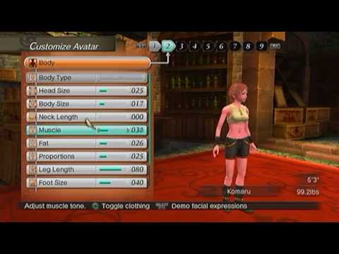 【PS3】 White Knight Chronicles - Detail Female Character Creation [1/3]