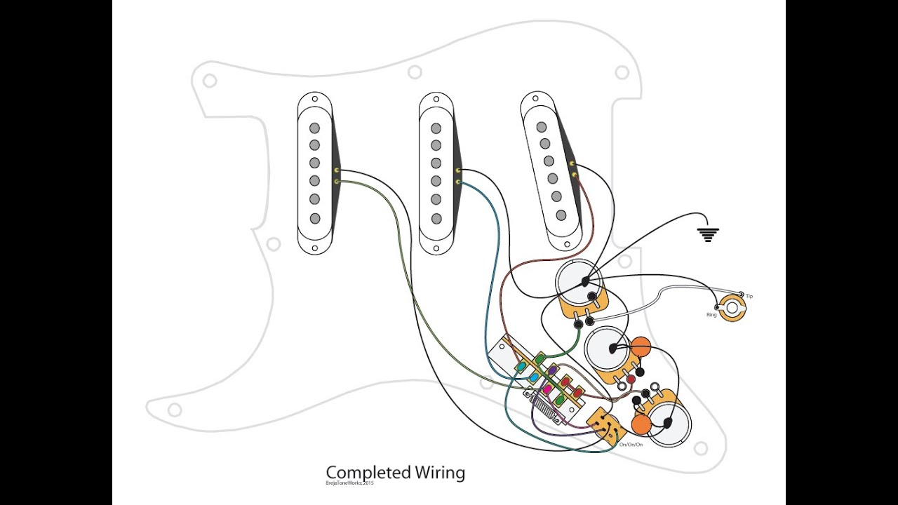 Wonderful Pot Diagram Small Les Paul 3 Pickup Wiring Rectangular Stratocaster 5 Way Switch Diagram Bulldog Remote Start Manual Old 3 Way Switch Guitar Wiring SoftStrat Super Switch Wiring 9 Way Stratocaster Wiring Mod   YouTube