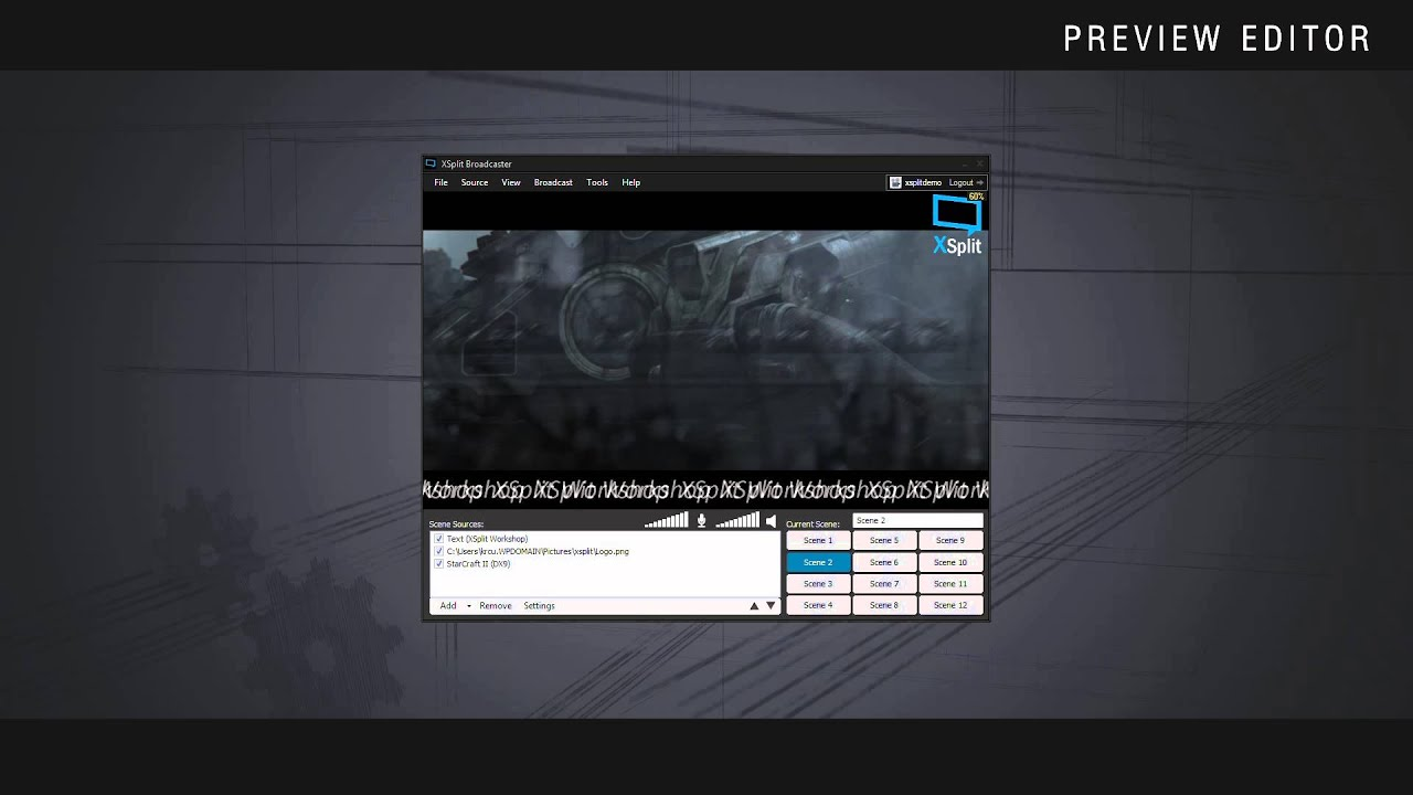 Quick Demo: Professional Features in XSplit Broadcaster V2