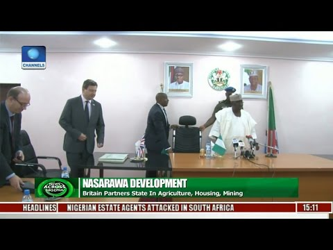 News Across Nigeria: Britain Partners State In Agriculture, Housing, Mining
