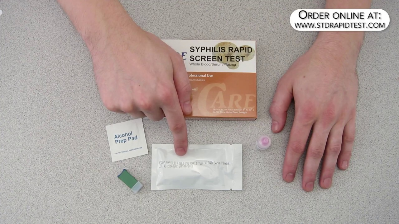 How to use an iCare Syphilis test kit - by LT Labs