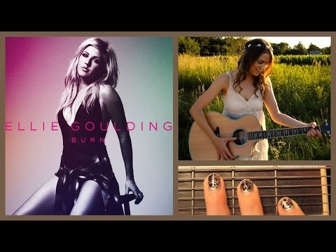 "❤ ""Burn"" - Ellie Goulding Guitar Lesson | Guitar Goddess ❤"