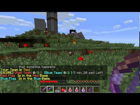 Mine Craft Catch The Flag Sever Part 2