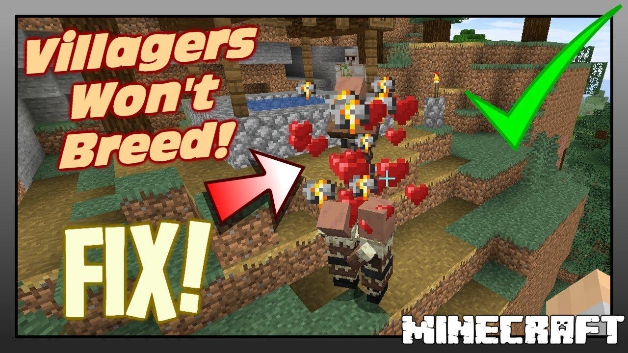 """Villagers Won�t Breed """"FIX""""  Minecraft 11111111.111111111111 - 11111111.1111111111.11111111"""