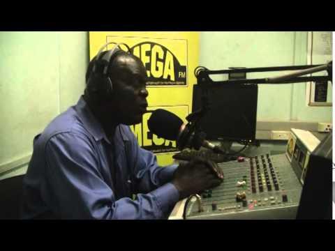 Lacambel broadcasting live at Mega FM Gulu