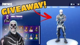 "SKULL TROOPER ""SKELETON"" GIVEAWAY! (Fortnite Battle Royale)"