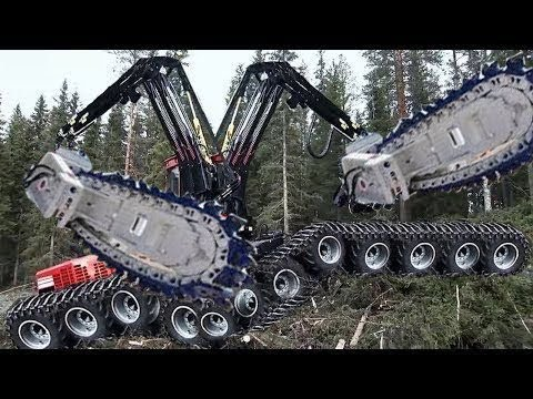 Top 10 Modern machines clean and exploit green forests quickly and cleanly in a music note