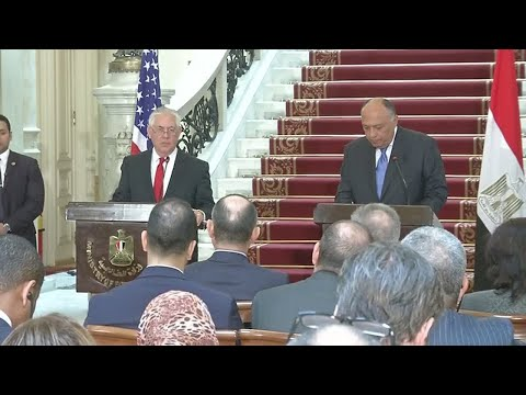 "Rex Tillerson in Egypt: ""The final boundaries of Jerusalem are yet to be determined"""