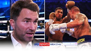 Eddie Hearn reacts to Anthony Joshua's defeat to Oleksandr Usyk \u0026 discusses the rematch