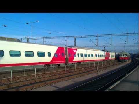 Sm3 (Pendolino) passing Riihimäki, Finland - Tåg / Train / Juna
