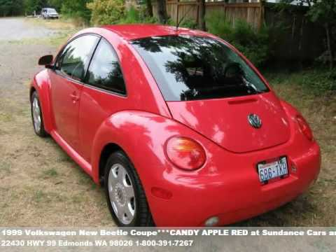 1999 volkswagen new beetle coupe candy apple red 3995. Black Bedroom Furniture Sets. Home Design Ideas