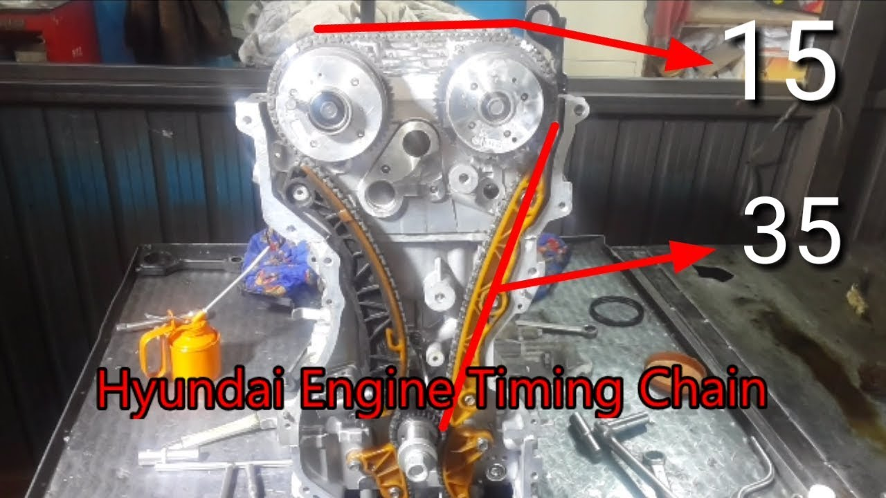 Hyundai Tucson V4 Engine Timing Chain How To Set Timing Marks On Honda Odyssey Timing Belt Youtube