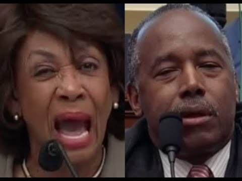 """""""DO YOU THINK IT WAS WRONG??!!"""" Maxine Waters DESTROYS Ben Carson on Donald Trump"""