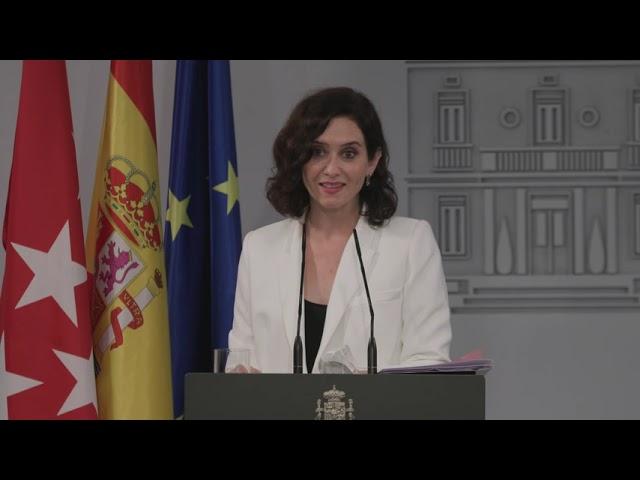 Díaz Ayuso se reúne con Pedro Sánchez en la Moncloa