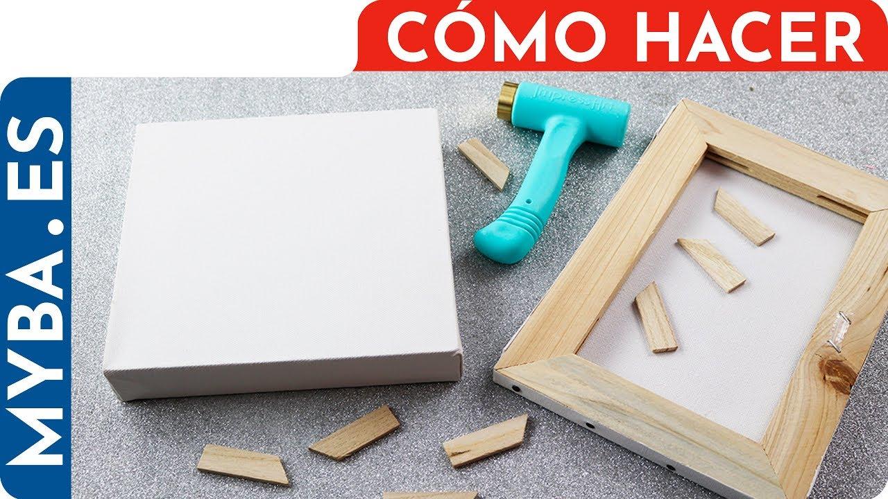 Moderno Cómo Estirar Lienzo Sobre Bastidor Composición - Ideas ...