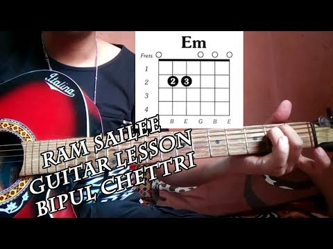 Ram sailee guitar lesson in easy way||sajilo guitar lesson