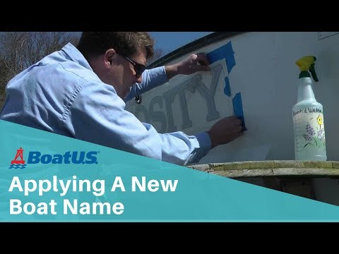 Applying A New Boat Name | BoatUS