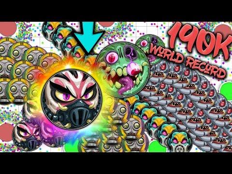 Agar.io - SOLO WORLD RECORD! 190K+ Mass! CRAZY SOLO AGARIO GAMEPLAY!