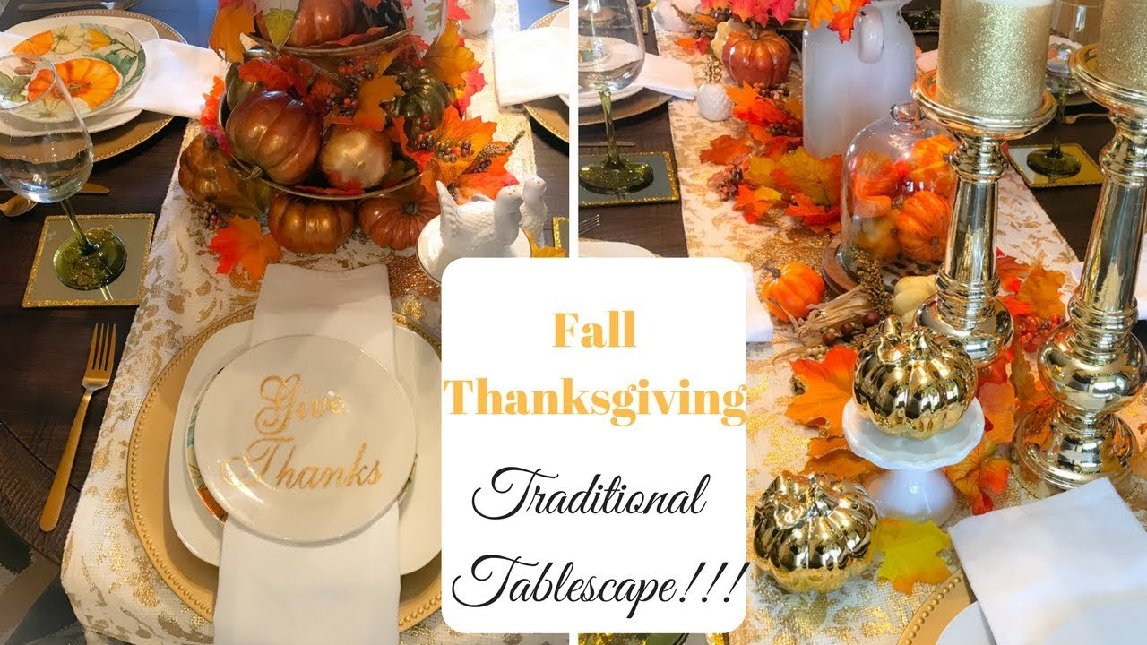 Fall thanksgiving tablescape traditional 🍁🎃🍂dollar