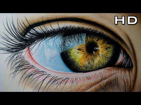 Dibujo de un Ojo Realista con Lápices de Colores - Versión Rápida