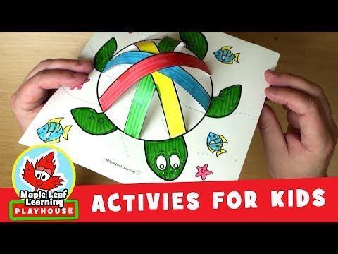 Rainbow Turtle Shell Activity for Kids | Maple Leaf Learning Playhouse