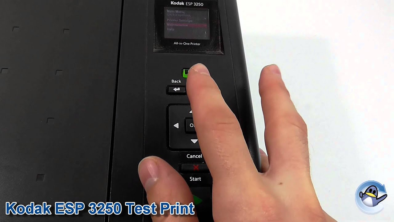 Kodak ESP 3250: How to do a Printer Test Page
