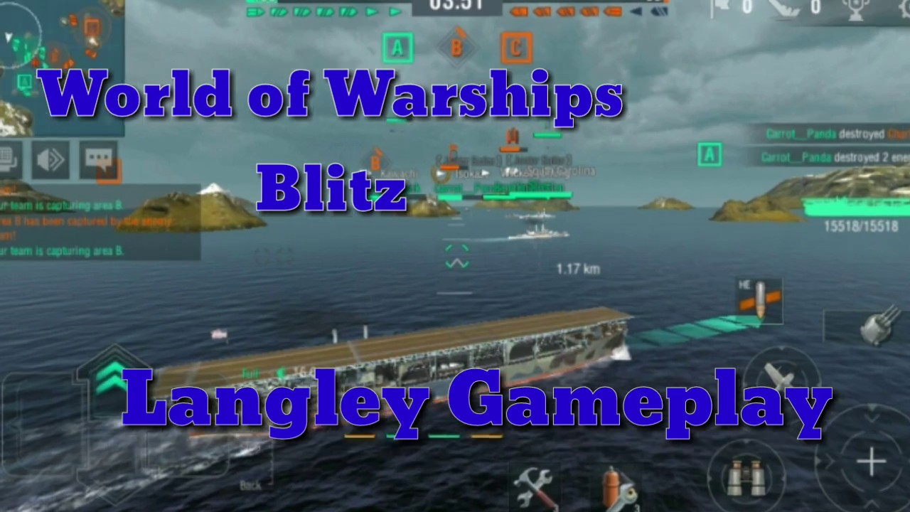 World Of Warships Blitz-iOS/ Android-Langley Gameplay