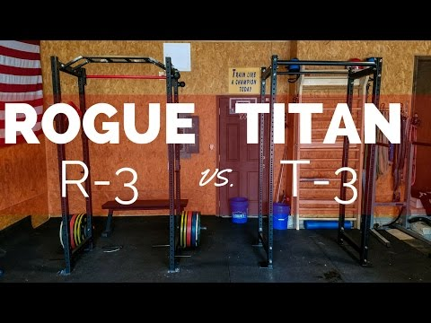 Best Squat Rack Showdown: Rogue R-3 vs Titan T-3!