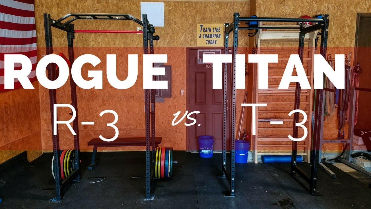 Best squat rack showdown rogue r vs titan t youtube