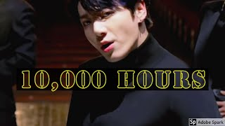 BTS Jungkook 10,000 Hours - Lyrics (Full Ver.) - Justin Bieber Cover - Dan + Shay Cover By  정국