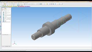 """Компас 3D уроки - построение чертежа из 3D модели детали """"Вал"""" (UA)"""