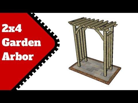 2x4 Garden Arbor Plans