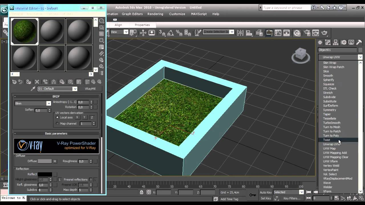 Tutorial 3d max como crear pasto con vray displacement por for Sillas para 3d max