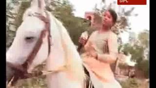 Jhansi ki Rani practices horse riding