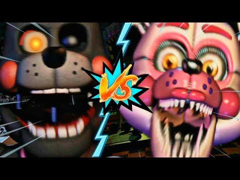 LEFTY VS FUNTIME FOXY - La Liga de FNAF | FIVE NIGHTS AT FREDDY'S ULTIMATE CUSTOM NIGHT (J2)