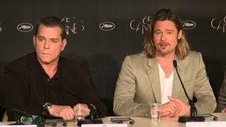 """Cannes: conférence de presse du film """"Cogan - La mort en douce"""""""