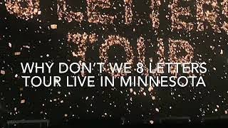 Why Don t We 8 Letters Tour Live Minnesota
