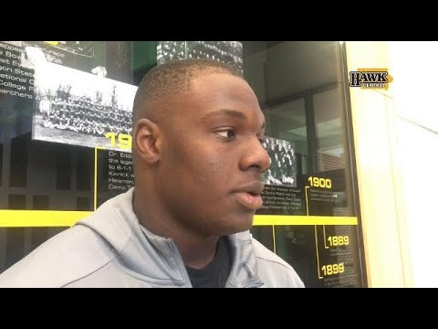 James Daniels on his reaction to learning Iowa is averaging only 3.7 yards per carry