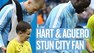 Hart & Agüero Make Dreams Come True for Brave City Fan