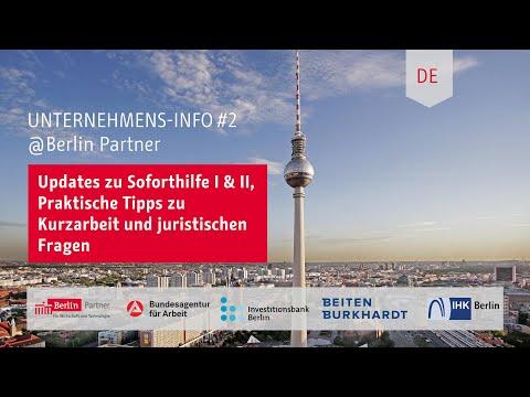 Unterstützung Für Berliner Unternehmen: Info-Call, 01.04.