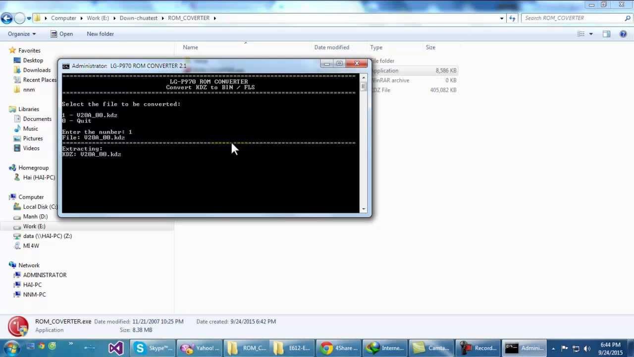 Tool convert LG KDZ to DZ ( TOT )