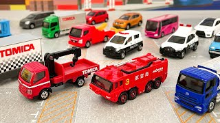 トミカ標識セット3弾&4弾をプレミアム価格で購入!コンプリートは大変だ(汗)空港化学消防車、UDトラックスタンクローリー、日野デュトロクレーン付きトラック、三菱ふそうキャンター、動物運搬車など