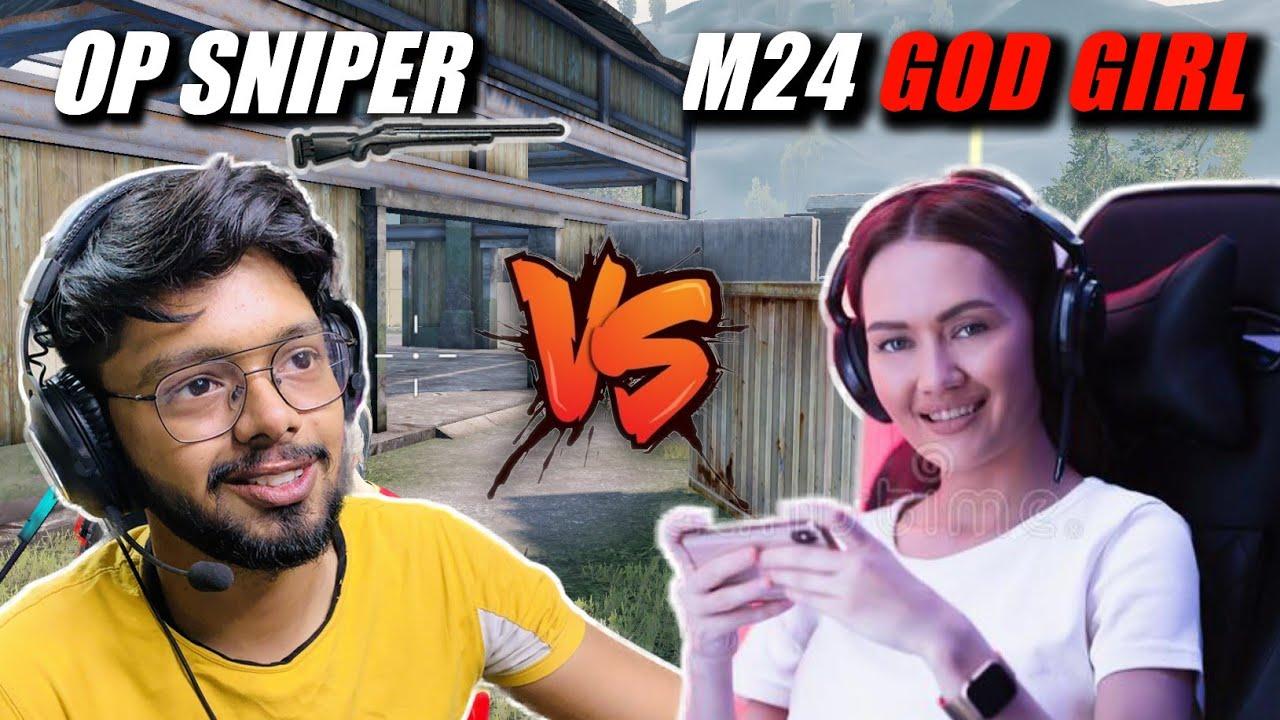 This Girl is So Fast in M24 Sniper | 1v1 TDM Against Gamer Girl 🔥 | Android Gamer