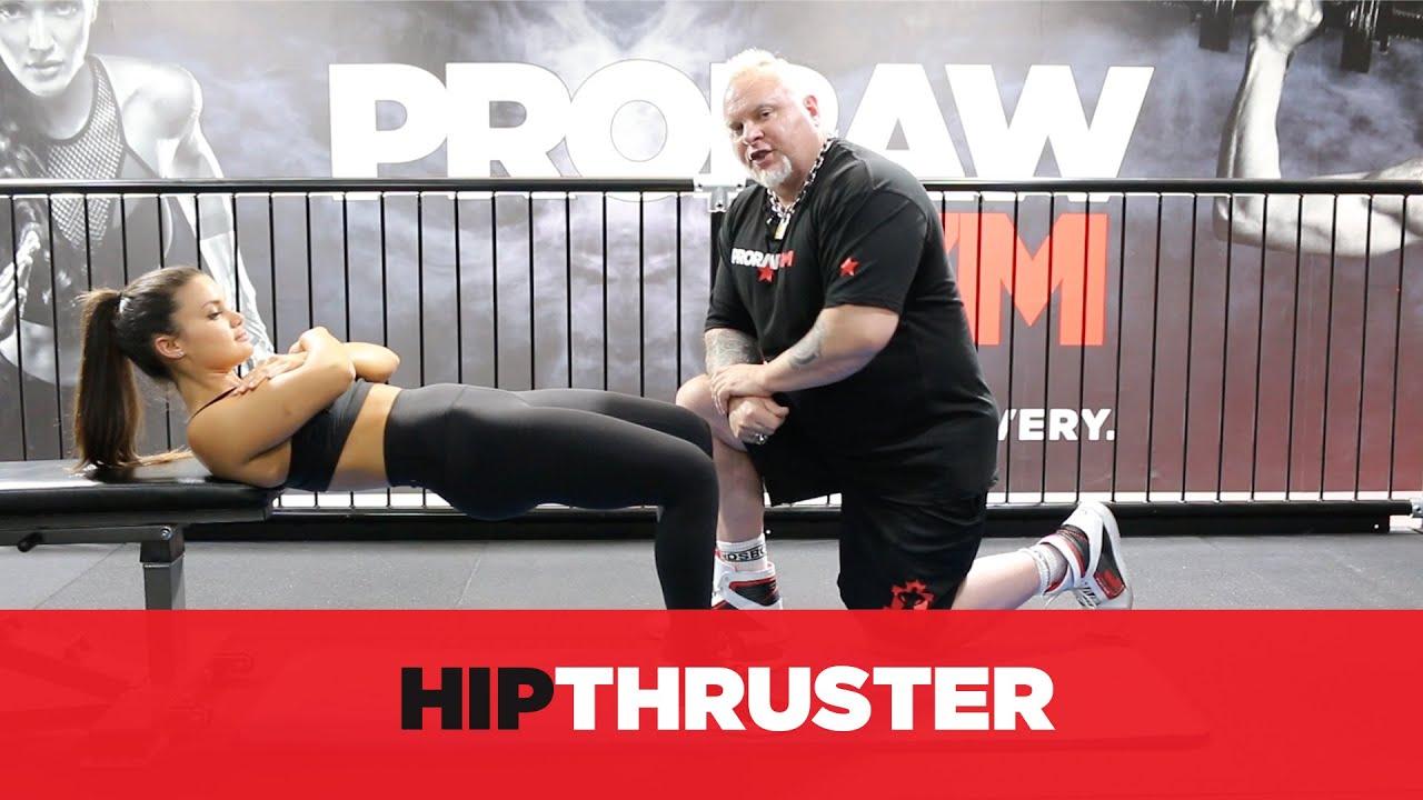 Hip Thrust - Dumbbell - YouTube