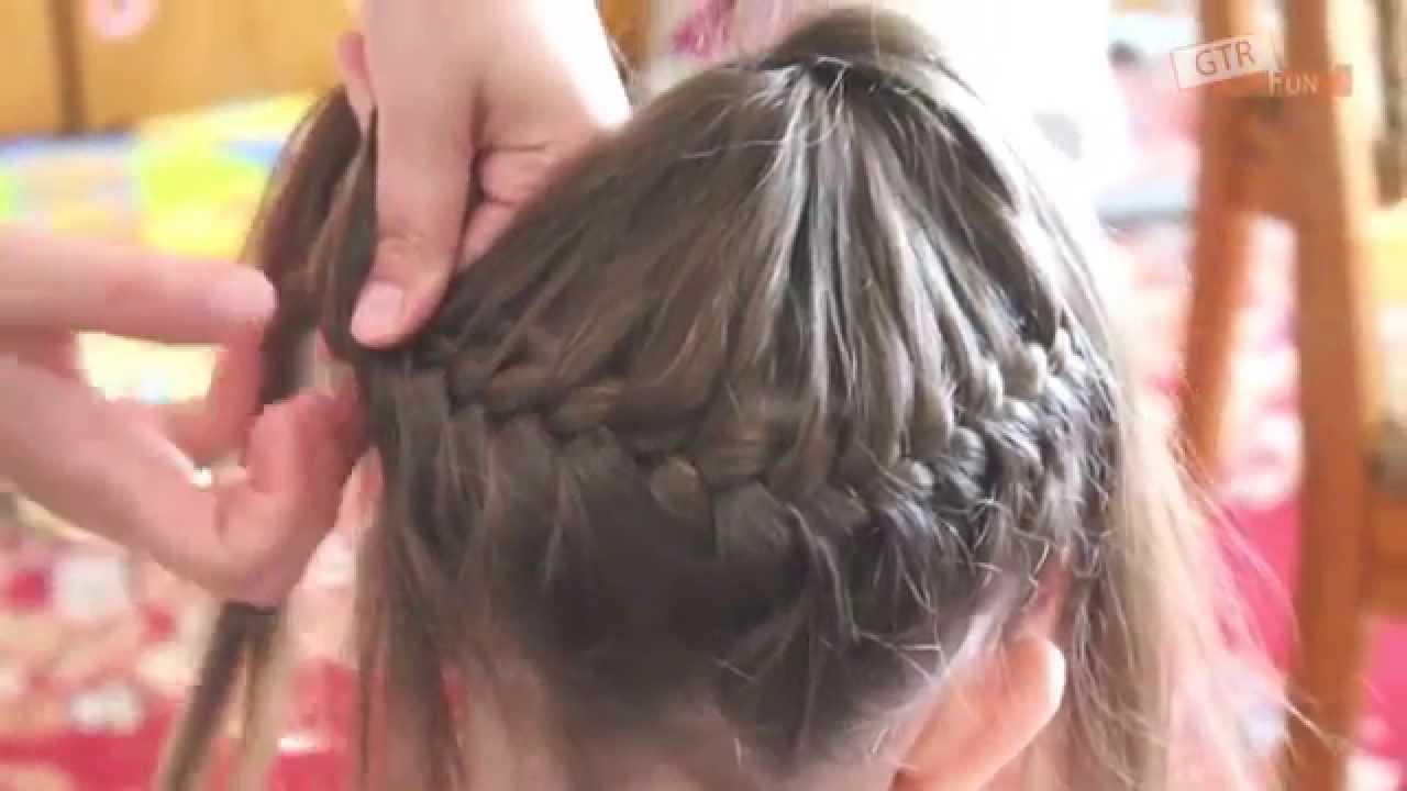 Korona Z Włosów Fryzura Z Warkocza Na Około Głowy Warkocz Francuski Dobierany