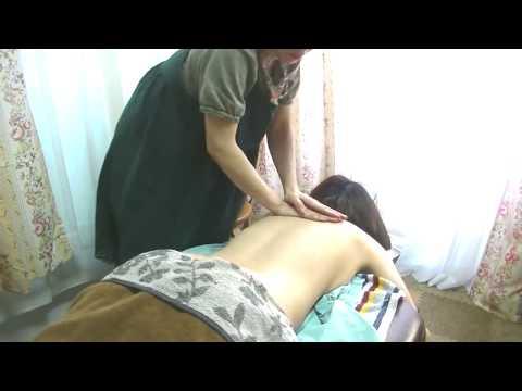 【ASMR?】24歳女性/腰背部シアバタートリートメント&ストレッチ【りらく屋】Lymphatic back massage
