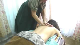 【ASMR】24歳女性/腰背部シアバターマッサージ&ストレッチ【りらく屋】Lymphatic massage and stretch thumbnail