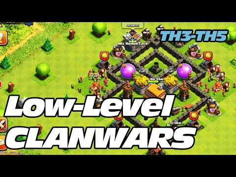 Clash of Clans - TH4, TH5, TH6 Clanwars - How to 3-Star!