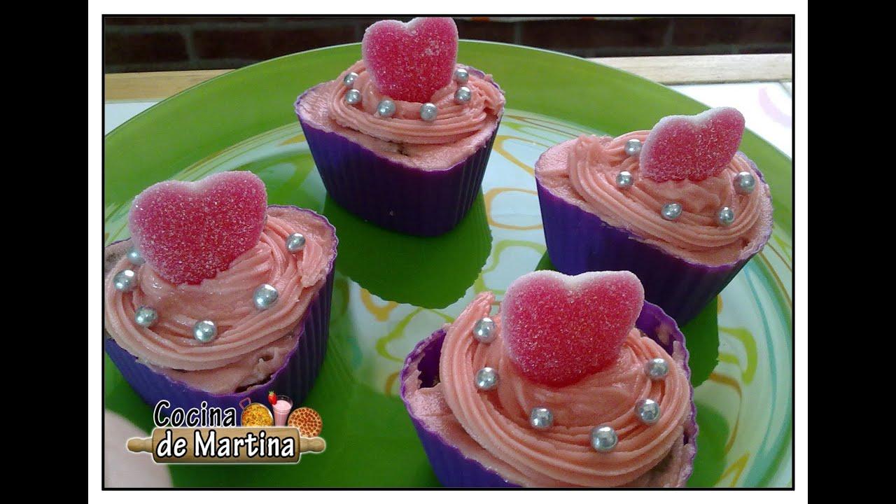Cupcakes rom nticos recetas para san valent n cocina for Cocina de martina